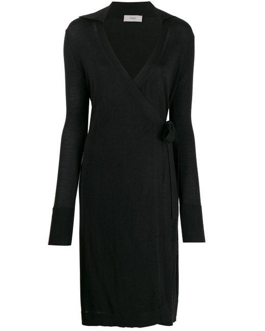 Pringle of Scotland ラップスタイル ドレス Black