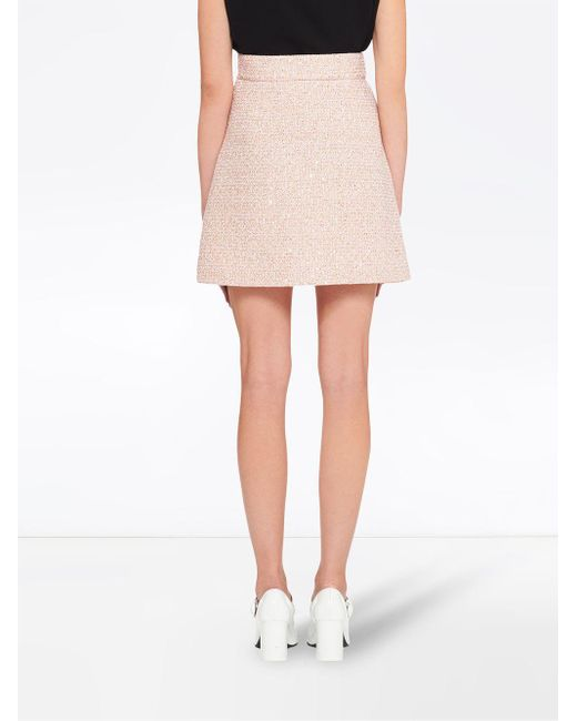 Miu Miu スパンコール ミニスカート Pink