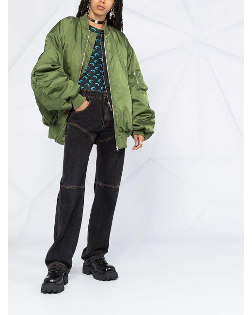 Бомбер Оверсайз Moschino, цвет: Green