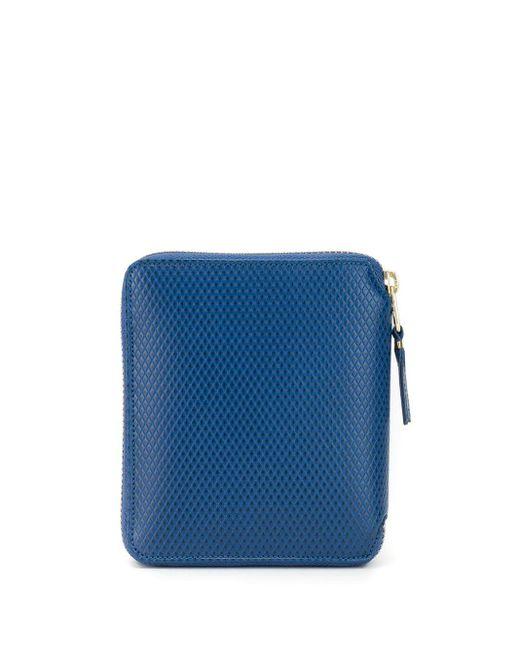 メンズ Comme des Garçons ファスナー財布 Blue