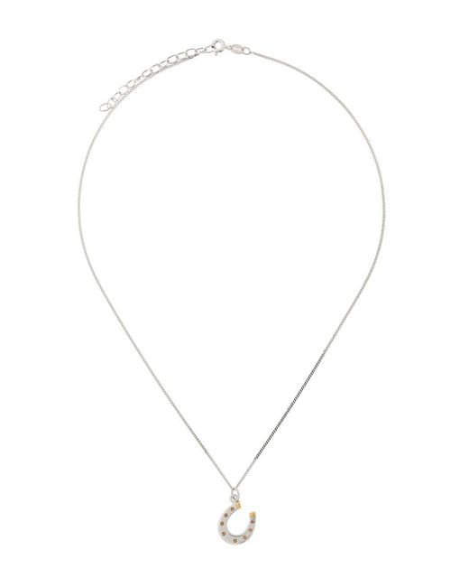 True Rocks Metallic Horseshoe Pendant Necklace for men