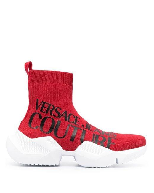 メンズ Versace Jeans チャンキーソール スニーカー Red