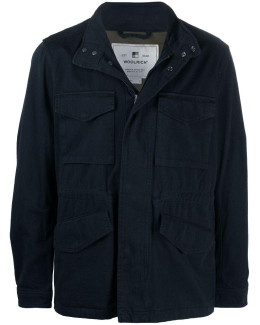 メンズ Woolrich ボンバージャケット Blue
