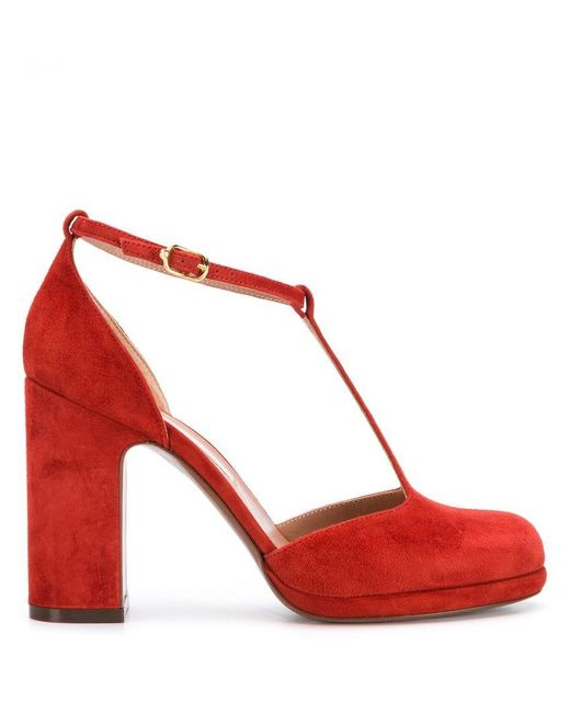 c6488869acaf Lyst - L Autre Chose T-strap Heels in Red