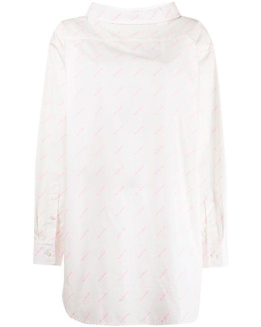 Balenciaga ロゴ シャツ White