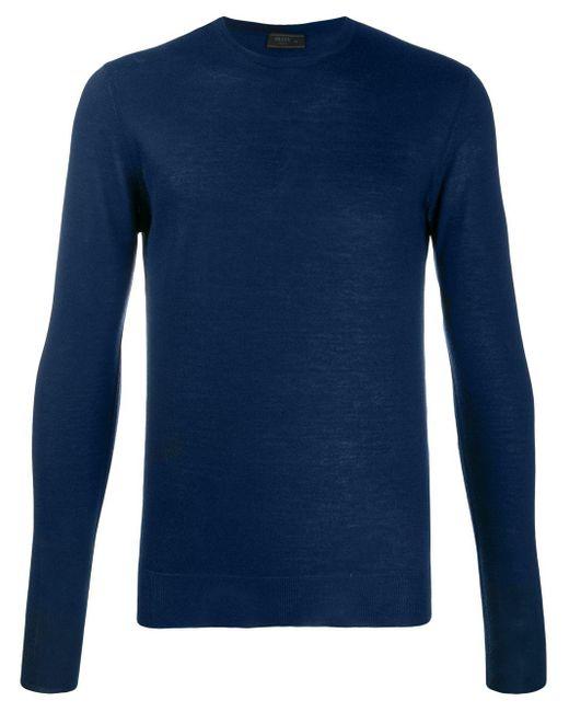 メンズ Prada ファインニット セーター Blue