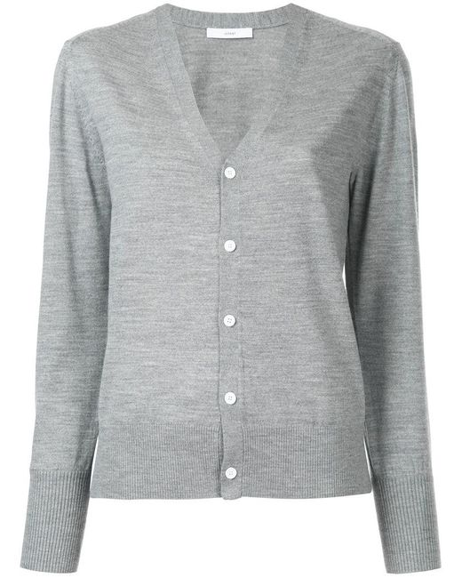 Astraet | Gray Button Up Cardigan | Lyst