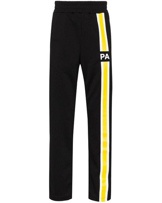 Спортивные Брюки С Контрастной Полоской Palm Angels для него, цвет: Black