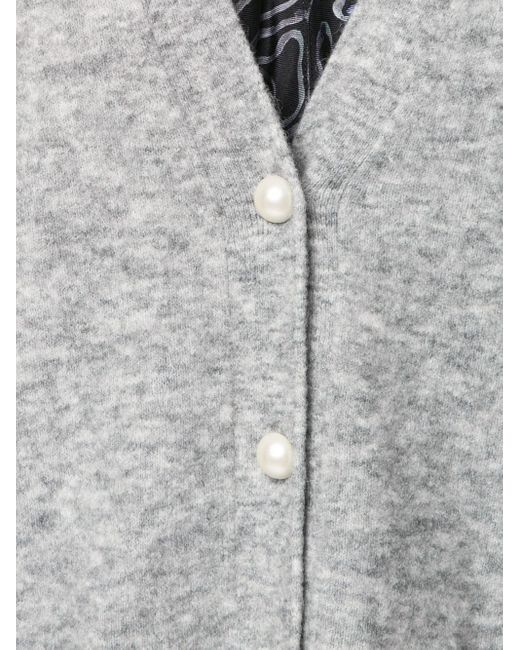 Кардиган На Пуговицах Из Искусственного Жемчуга 3.1 Phillip Lim, цвет: Gray