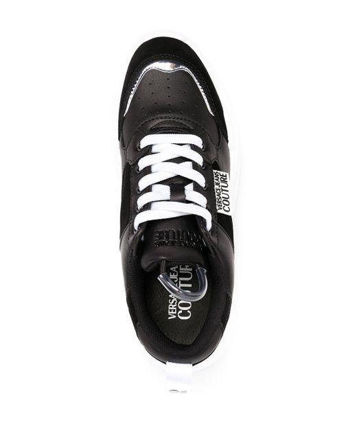 Кроссовки На Массивной Подошве Versace Jeans, цвет: Black