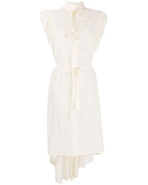 Платье Асимметричного Кроя С Оборками Ann Demeulemeester, цвет: White