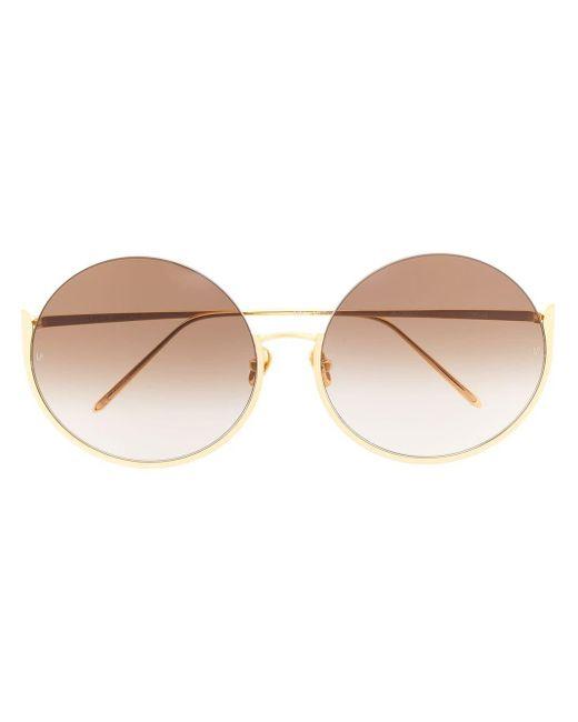 Linda Farrow Multicolor Oversized Round Frame Sunglasses