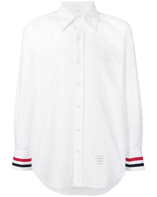 メンズ Thom Browne グログランカフス オックスフォードシャツ White