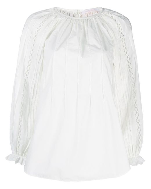 See By Chloé プリーツ ブラウス White