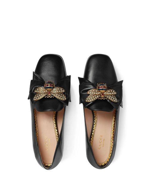 Балетки С Бантом Gucci, цвет: Black