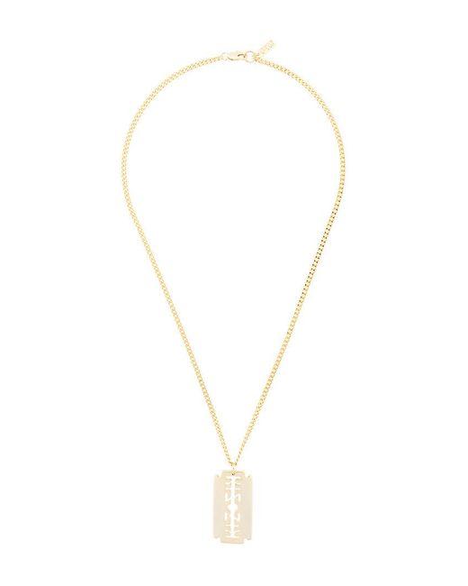KTZ logo chain necklace - Metallic DdEuV
