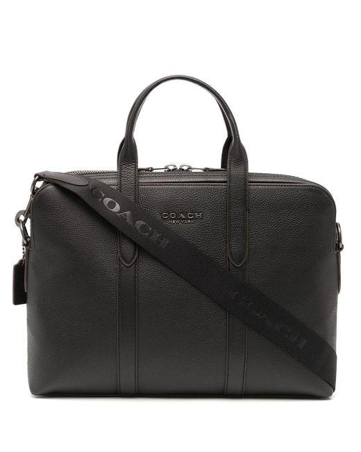 メンズ COACH Metropolitan ビジネスバッグ Black