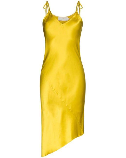 Marques'Almeida サテンスリップドレス Yellow