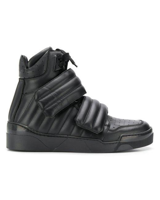 Les Hommes Black Padded High-top Sneakers for men