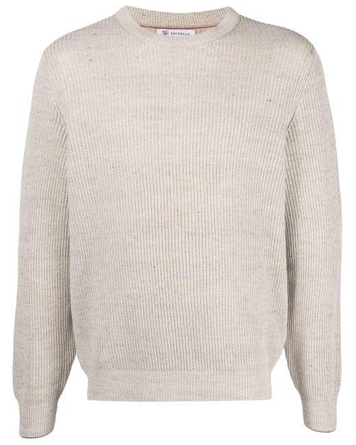 メンズ Brunello Cucinelli クルーネック セーター Multicolor
