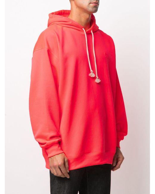 Худи Оверсайз С Нашивкой Acne, цвет: Pink