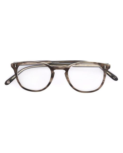 Garrett Leight | Gray - 'kinney' Glasses - Unisex - Acetate - 47 | Lyst