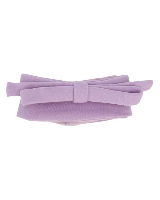 Miu Miu リボンスカーフ Purple