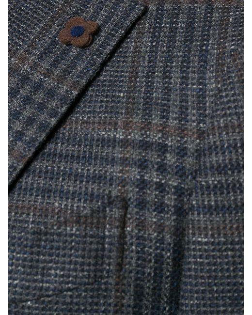 Однобортный Пиджак В Клетку Lardini для него, цвет: Blue