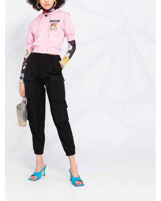Худи С Короткими Рукавами И Узором Moschino, цвет: Multicolor