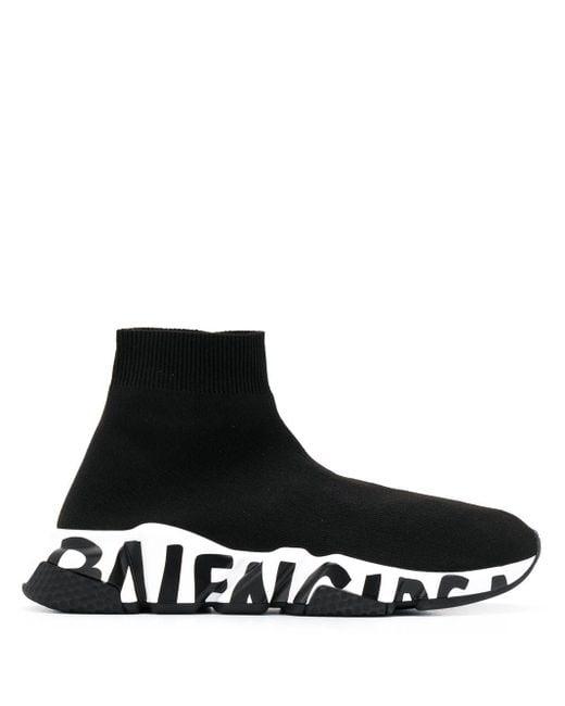 Balenciaga Slip-on Speed Lt Polyamide Polyester Logo Black