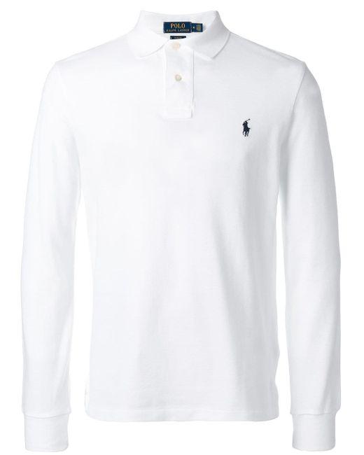 メンズ Polo Ralph Lauren ロゴ ポロシャツ White