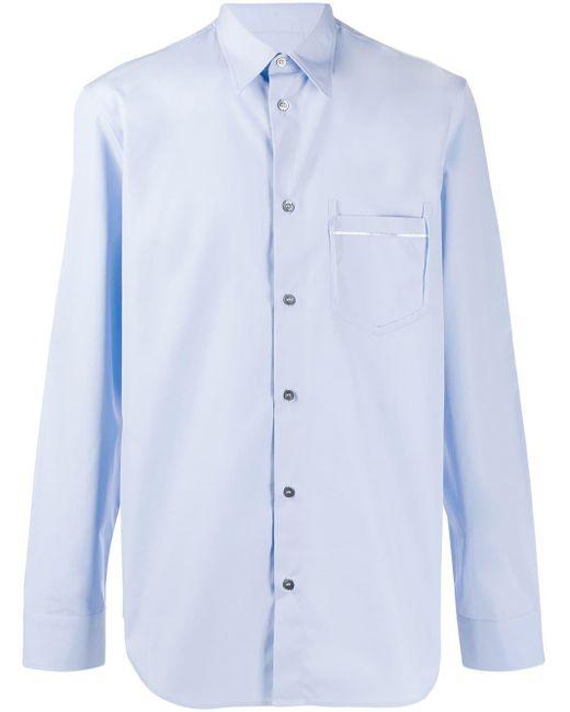 メンズ Maison Margiela フロントポケット シャツ Blue