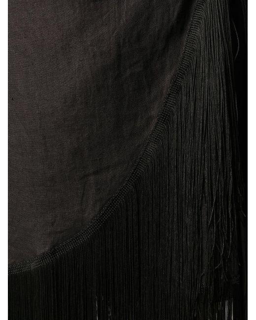 ANDAMANE Carly フリンジヘム ドレス Black