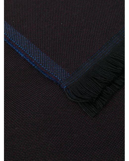 メンズ Dell'Oglio ウーブン スカーフ Blue