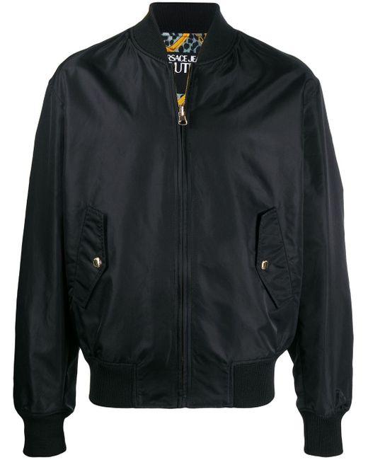 メンズ Versace Jeans バロックプリント ボンバージャケット Black