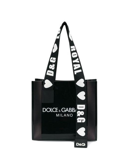b91622f370e0 Lyst - Dolce   Gabbana Street Shopper Tote in Black - Save 30%