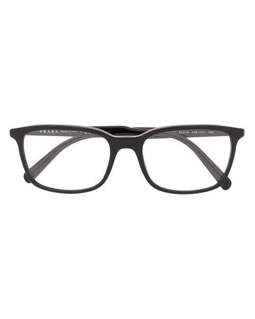 メンズ Prada スクエア眼鏡フレーム Black