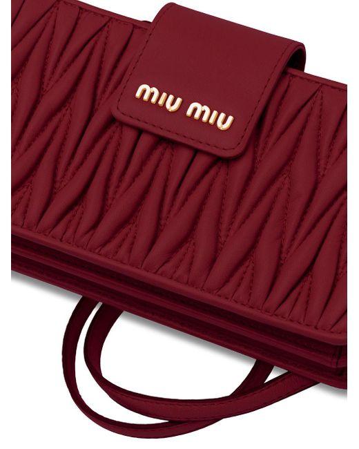 Miu Miu マテラッセ ミニバッグ Red