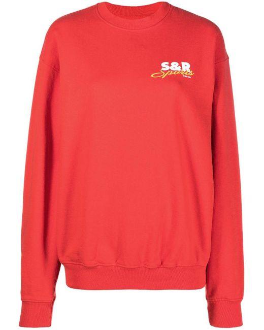 Sporty & Rich ロゴ スウェットシャツ Red