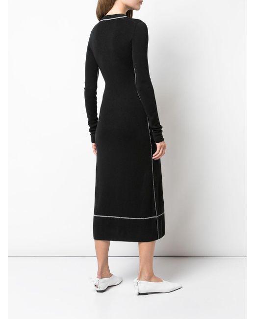 Платье С Длинными Рукавами И Круглым Вырезом Proenza Schouler, цвет: Black