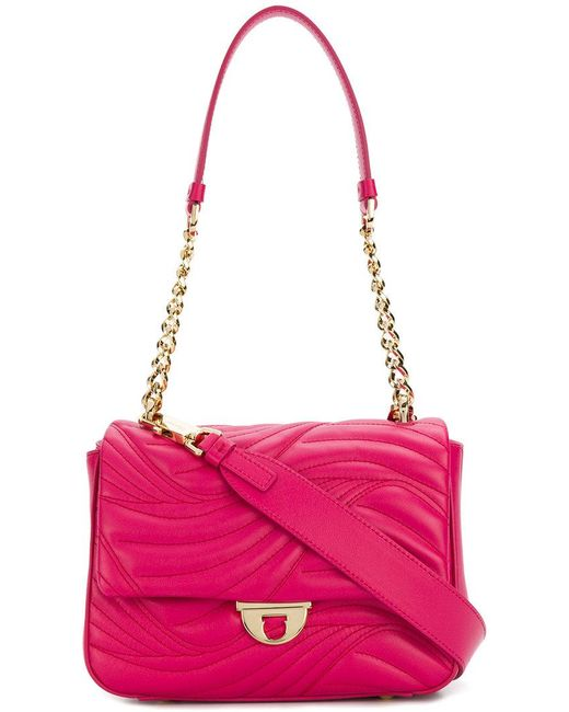 Ferragamo - Pink Small Quilted Flap Bag - Lyst