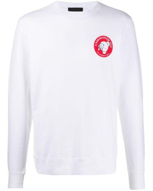 メンズ Undercover ロゴ スウェットシャツ White