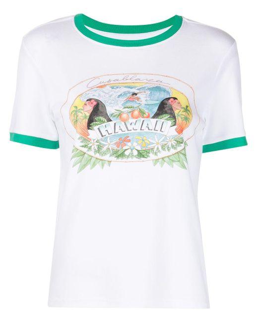 CASABLANCA Hawaii Tシャツ White