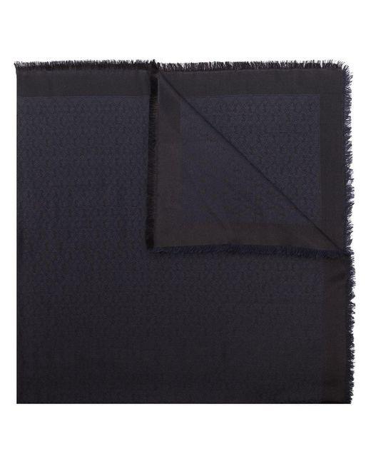 Saint Laurent モノグラム スカーフ Black