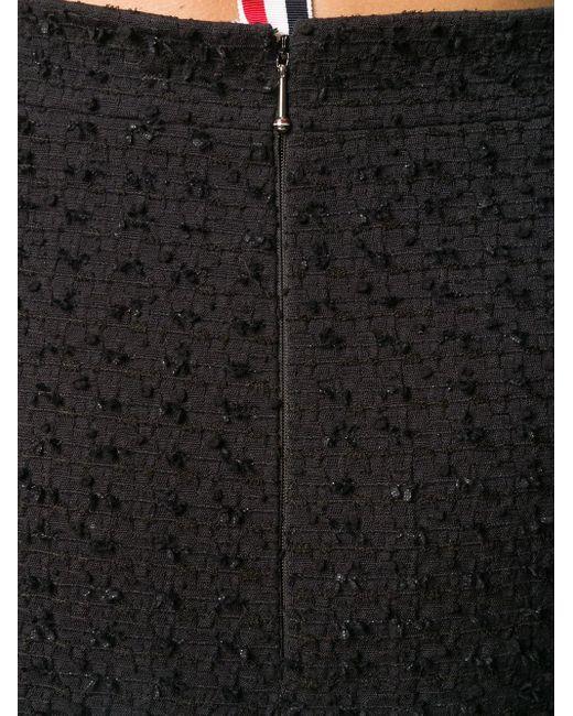 Твидовая Юбка С Бахромой Thom Browne, цвет: Black