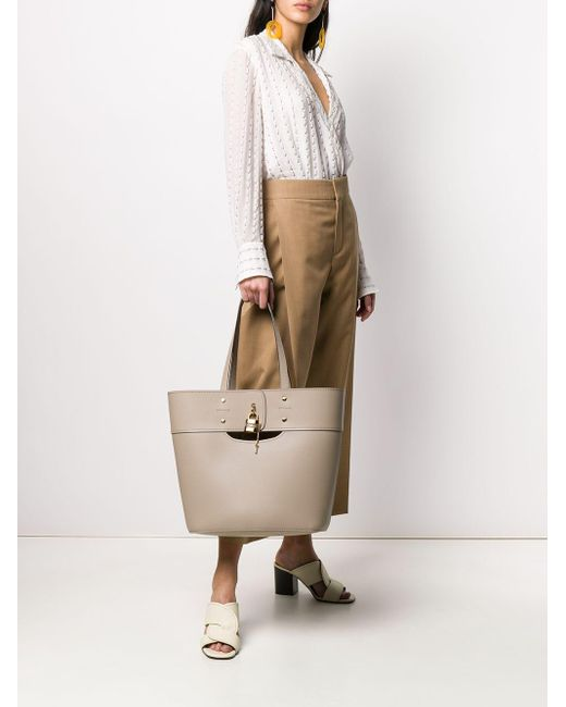 Chloé Aby ハンドバッグ Natural