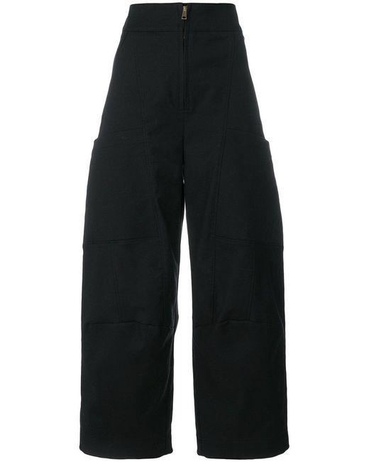 Chloé - Black Wide Leg Trousers - Lyst