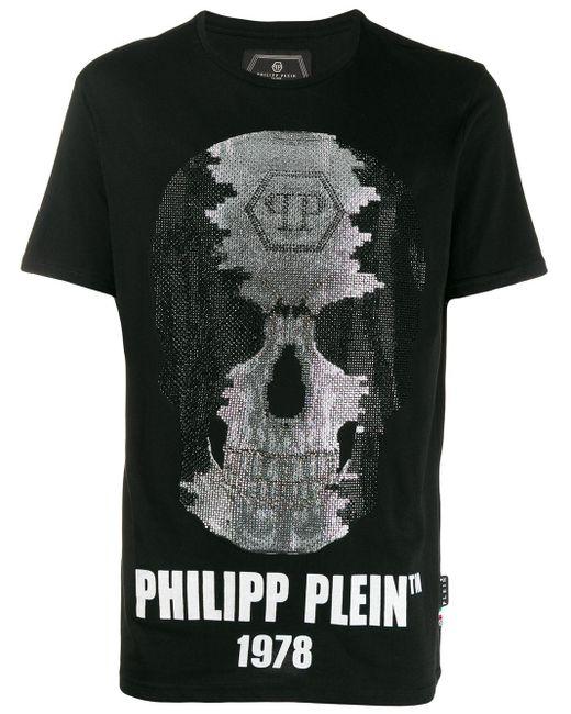メンズ Philipp Plein クルーネック Tシャツ Black