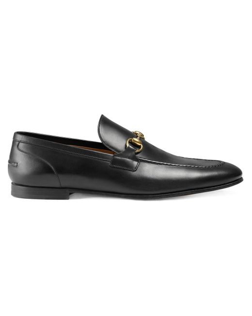 Gucci Black Jordaan Leather Loafer for men