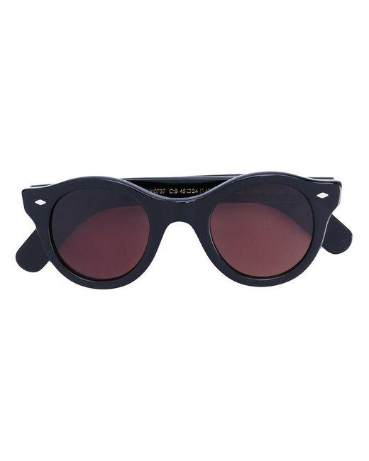 Cutler & Gross | Black Chunky Round Sunglasses | Lyst